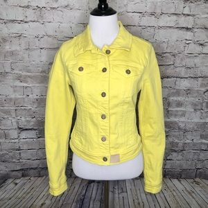 Pilcro and The Letterpress Yellow Denim Jacket XS